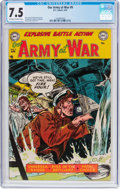 Golden Age (1938-1955):War, Our Army at War #9 (DC, 1953) CGC VF- 7.5 Off-white to whitepages....