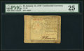 Colonial Notes:Continental Congress Issues, Continental Currency January 14, 1779 $2 PMG Very Fine 25.. ...