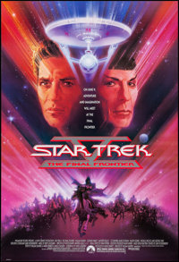"""Star Trek V: The Final Frontier & Others Lot (Paramount, 1989). One Sheets (4) (27"""" X 40, 27"""" X 41&quo..."""