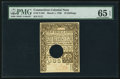 Colonial Notes:Connecticut, Connecticut March 1, 1780 10s Hole Cancel PMG Gem Uncirculated 65EPQ.. ...