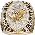 Football Collectibles:Others, 2001 Grand Rapids Rampage Arena Bowl Championship Ring....