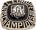 Football Collectibles:Others, 2000 Rhein Fire NFL Europe Championship Ring. ...