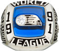 Football Collectibles:Others, 1991 London Monarchs NFL Europe Championship Ring. ...