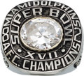 Football Collectibles:Others, 1982 Miami Dolphins AFC Championship Prototype Ring....