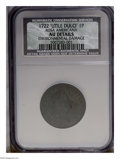 1722 PENNY 'UTILE DULCI' Rosa Americana,Brown, Environmental Damage NCS. AU Details. PCGS Population (2/22). NGC Census:...