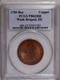 1783 1C Washington & Independence Cent, Draped Bust, Copper Restrike, Engrailed Edge PR62 Red and Brown PCGS. PCGS P...