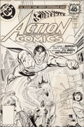 Original Comic Art:Covers, Ross Andru and Dick Giordano Action Comics #490 CoverOriginal Art (DC, 1978)....