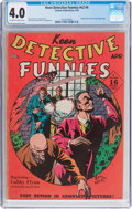 Golden Age (1938-1955):Crime, Keen Detective Funnies V2#4 (Centaur, 1939) CGC VG 4.0 Off-white to white pages....