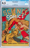 Golden Age (1938-1955):Science Fiction, Science Comics #5 (Fox, 1940) CGC VG+ 4.5 Light tan to off-whitepages....