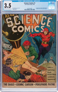 Golden Age (1938-1955):Science Fiction, Science Comics #1 (Fox, 1940) CGC VG- 3.5 Light tan to off-whitepages....