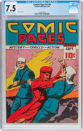 Golden Age (1938-1955):Adventure, Comic Pages V3#5 (Centaur, 1939) CGC VF- 7.5 Off-white to whitepages....
