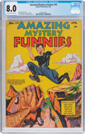 Golden Age (1938-1955):Superhero, Amazing Mystery Funnies #19 (Centaur, 1940) CGC VF 8.0 Off-white towhite pages....