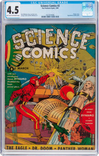 Science Comics #2 (Fox, 1940) CGC VG+ 4.5 Light tan to off-white pages