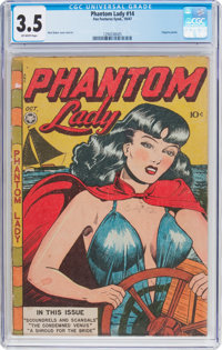Phantom Lady #14 (Fox Features Syndicate, 1947) CGC VG- 3.5 Off-white pages