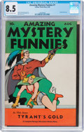 Golden Age (1938-1955):Science Fiction, Amazing Mystery Funnies #1 (Centaur, 1938) CGC VF+ 8.5 Cream tooff-white pages....