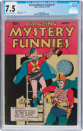 Golden Age (1938-1955):Superhero, Amazing Mystery Funnies #3 (Centaur, 1938) CGC VF- 7.5 Cream tooff-white pages....