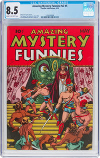 Amazing Mystery Funnies V2#5 (Centaur, 1939) CGC VF+ 8.5 Cream to off-white pages