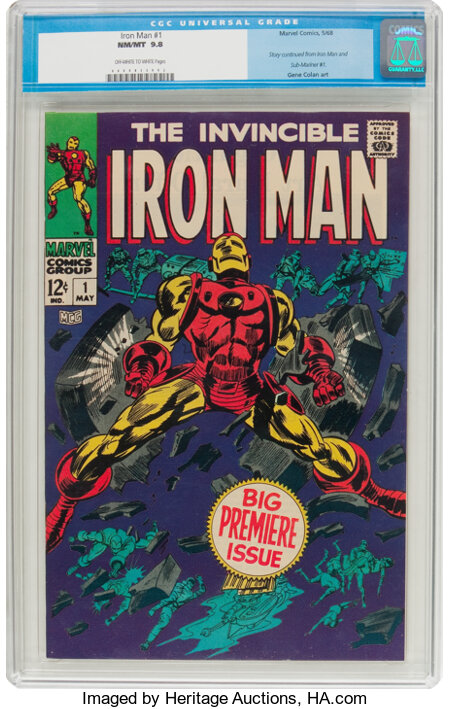Iron Man #1 (Marvel, 1968) CGC NM/MT 9.8 Off-white to white pages....