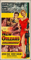 """Movie Posters:Crime, New Orleans Uncensored (Columbia, 1955). Three Sheet (41"""" X 80"""").Crime.. ..."""