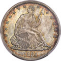 Seated Half Dollars, 1884 50C Repunched Date, WB-102, MS66 PCGS. CAC....