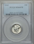 Mercury Dimes, (4)1942 10C MS65 PCGS. This lot also includes a: 1942 10C MS66 Full Bands PCGS.... (Total: 5 coins)