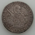 German States:Saxony, German States: Saxony. August Taler 1575-HB VF - Corroded Scratched,...
