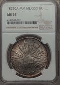 Mexico, Mexico: Republic 8 Reales 1875 Ca-MM MS63 NGC,...