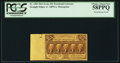 Fractional Currency:First Issue, Extra Selvage with Plate Number Fr. 1281 25¢ First Issue PCGSChoice About New 58PPQ.. ...