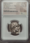 Ancients:Greek, Ancients: ATTICA. Athens. Ca. 454-404 BC. AR tetradrachm (17.20gm). NGC Choice AU 5/5 - 4/5. ...