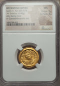Ancients:Byzantine, Ancients: Justin II (AD 565-578). AV solidus (4.48 gm). NGC MS 5/5- 3/5....