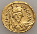 Ancients:Byzantine, Ancients: Phocas (AD 602-610). AV solidus (4.26 gm). XF,clipped....