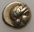 Ancients:Greek, Ancients: LESBOS. Mytilene. Ca. 377-326 BC. El sixth stater orhecte (2.49 gm). About XF....