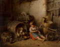 Fine Art - Painting, European:Antique  (Pre 1900), Hermann Kern (Hungarian, 1839-1912). Playmates, 1885. Oil oncanvas. 15-3/4 x 19-3/4 inches (40.0 x 50.2 cm). Signed and...