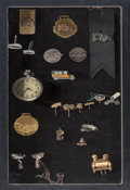 Decorative Arts, Continental:Other , Twenty-Two Various Automobile-Related Gold, Sterling, and MixedMedia Tie Pins, Stickpins, and Accessories, 20th century. Ma...(Total: 22 Items)