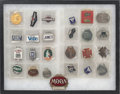 Decorative Arts, American, Twenty-Five Automobile Enameled Key Fobs and Pins, 20th century. 2inches high x 2-5/8 inches wide (5.1 x 6.7 cm) (largest, ...(Total: 25 Items)