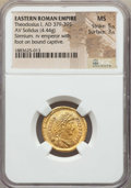 Ancients:Roman Imperial, Ancients: Theodosius I (AD 379-395). AV solidus (4.44 gm). NGC MS5/5 - 3/5. ...