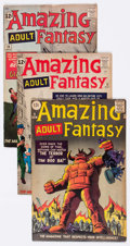 Silver Age (1956-1969):Science Fiction, Amazing Adult Fantasy #9, 12, and 14 Group (Marvel, 1962)Condition: Average VG+.... (Total: 3 Comic Books)