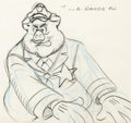 "Animation Art:Production Drawing, Fritz the Cat ""Pig Cop"" Layout Drawing Group of 8 (RalphBakshi, 1972).... (Total: 8 )"