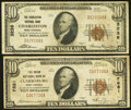 National Bank Notes:West Virginia, Charleston, WV - $10 1929 Ty. 1 The Charleston NB Ch. # 3236;.Clarksburg, WV - $10 1929 Ty. 1 The Union NB Ch. ... (Total: 2notes)