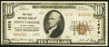 National Bank Notes:Pennsylvania, Honeybrook, PA - $10 1929 Ty. 2 The First NB Ch. # 1676. ...