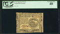 Colonial Notes:Continental Congress Issues, Continental Currency July 22, 1776 $4 PCGS Extremely Fine 40.. ...