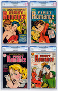 Golden Age (1938-1955):Romance, First Romance Magazine CGC-Graded File Copies Group of 4 (Harvey,1953-56) Conditions: CGC VF- 7.5.... (Total: 4 Comic Books)