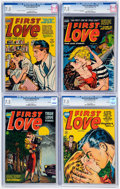 Golden Age (1938-1955):Romance, First Love Illustrated CGC-Graded File Copies Group of 4 (Harvey,1953-54) CGC VF- 7.5.... (Total: 4 Comic Books)