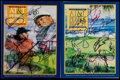 Golf Collectibles:Autographs, 1996 and 1998 AT&T Pebble Beach National Pro-Am Signed ProgramsLot of 2 With Signed Golf Pass....
