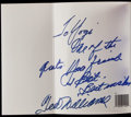 "Autographs:Others, Yogi Berra ""The Yogi Book"" Signed by Ted Williams...."