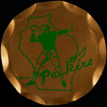 Football Collectibles:Others, 1961 Green Bay Packers Metal Tray - Less than 10 Known!...