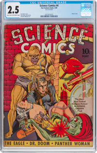 Science Comics #4 (Fox, 1940) CGC GD+ 2.5 Light tan to off-white pages