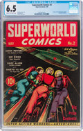 Golden Age (1938-1955):Science Fiction, Superworld Comics #2 (Hugo Gernsback, 1940) CGC FN+ 6.5 Cream tooff-white pages....