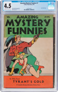 Golden Age (1938-1955):Science Fiction, Amazing Mystery Funnies #1 (Centaur, 1938) CGC VG+ 4.5 Cream to off-white pages....