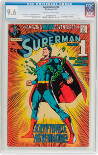 Superman #233 (DC, 1971) CGC NM+ 9.6 Off-white to white pages
